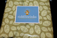 Tiddliwinks Woodland Full Dust Ruffle Bedskirt green leaves new