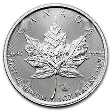 2017 1 oz Platinum Canadian Maple Leaf Coin Brilliant Uncirculated BU