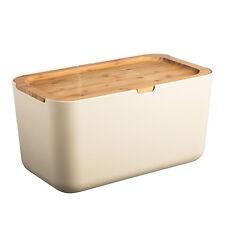 Typhoon Nubu Cream Kitchen Bread Bin with Reversible Chopping Board Lid