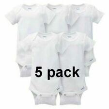 Gerber Unisex Boy/Girl Short Sleeve White Onesies Baby Clothes Piece Underwear