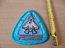 (P7) ECUSSON PATCH USA ARMY F-22 GENERAL DYNAMICS