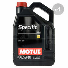 Motul Specific LL-04 5W-40 5W40 Fully Synthetic BMW Engine Oil Motor 20 Litres