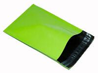 100 x NEON GREEN Plastic Mailing Bags 6x9 mm 6.5x9 165x230mm poly POSTAL dvd