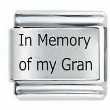 IN MEMORY OF MY GRAN Daisy Charm JSC Fits Classic Size Italian Charms Bracelet