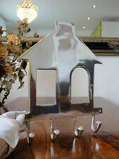 Muro guardarropa 4 ganchos casa plata guardarropa muro gancho alzapaños barra de gancho