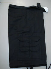 """NWT Men's Platinum Edge Casual Belted Cargo Shorts Size 34""""x 13.5"""" Black #31M"""