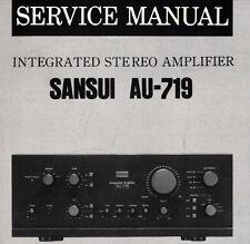 SANSUI AU-719 Integrated Stereo Amp Service Manual inkl. verfahrene Diag Printed eng