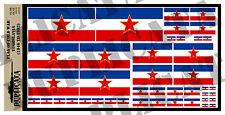 Diorama Accessory - Yugoslavian Flag - Cold War - 1/72, 1/48, 1/32, 1/35 Scales