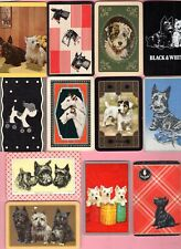 12 Single Swap Playing Cards Scotty & Terrier Dog Vintage Deco Puppy Variety Lot