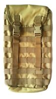 TACTICAL FORCE KHAKI MOLLE HYDRO POUCH ARMY WITH #FREE 2L BLADDER COYOTE DESERT