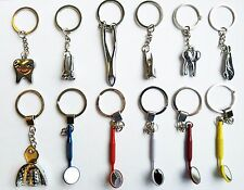 Assorted Dental Clinic Tool Keychain Dentist ( 12 Pieces )  Great Gift