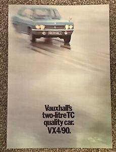 Vauxhall VX4/90 Sales Brochure 1970 V1979/9/70