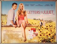 Cinema Poster: LETTERS TO JULIET 2010 (Quad) Amanda Seyfried Gael García Bernal