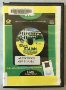 iSync Italian Complete Language Course by iLearn Anywhere Ex-Library MP3 CD