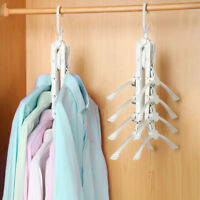 FJ- FOLDING CLOTHES HANGER RACK HOOK WARDROBE JACKET COAT SHIRT TIE ORGANIZER FA