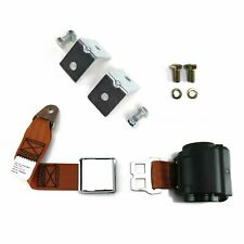 2pt Copper Retractable Airplane Buckle Lap Seatbelt w/ Anchor Hardware harness