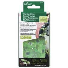 Clover Neon Green Wonder Clips - 50 Pack For Sewing, Crafts, Quilting, Arts