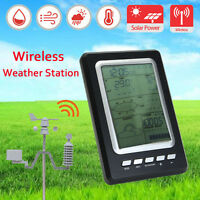 LCD Solar Wireless Temperature Humidity Barometer Weather Forecast Station