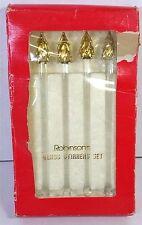 Gold Christmas Tree Stirrers Swizzle Sticks Robinsons 4 In Set