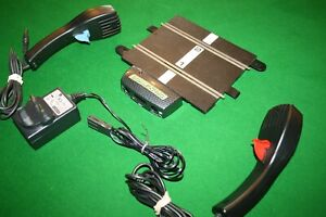 SCALEXTRIC POWER BASE STRAIGHT, 2 CONTROLLERS, POWER SUPPLY GOOD CONDITION