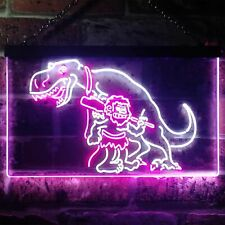 Caveman Dinosaur Room D? Dual Color Led Neon Sign st6-i3220