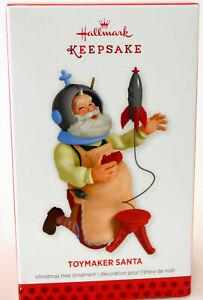 "HALLMARK KEEPSAKE 2013 "" TOYMAKER SANTA "" CHRISTMAS ORNAMENT NEW IN BOX"