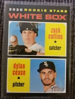 2020 Topps Heritage Zack Collins/Dylan Cease Rookie Stars #13