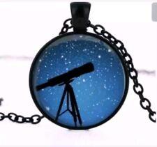 Telescope Stargazing Astronomy constellation necklace pendant sky celestrial