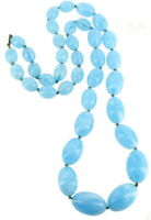 Vintage Deco Flapper Celluloid Plastic Hand Knotted Graduate Bead Necklace 32""