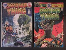 2 Swamp Thing DC comics, #11 Vol. 3 July Aug 1974 VG, #19 Vol. 4 1975 VG