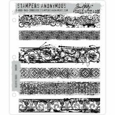 Tim Holtz Cling Stamps - Eclectic Edges - NEW!