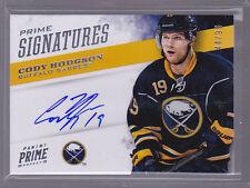 2012-13 Panini Prime Signatures #18 Cody Hodgson Auto 44/99