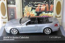 BMW 6 SERIES CONVERTIBLE 2006 SILVER GREY METAL MINICHAMPS 431026031 1/43 6ER