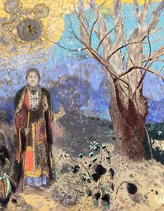 Buddha by Odilon Redon A1+ High Quality Canvas Print