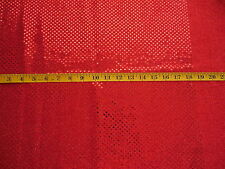 """Red Sequin Stretch Fabric 1 Yard 48"""" Wide Dance Pageant"""
