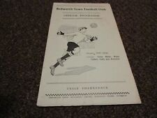 More details for  bedworth town  v  birch coppice colliery 1954/5  ~ october 9th  local ' derby '