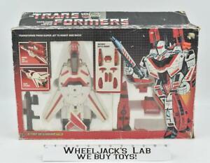Jetfire 100% Complete w Box 1985 G1 Transformers Hasbro Action Figure