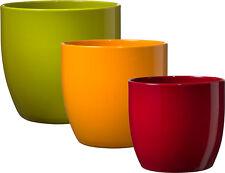 Übertopf Basel aus Keramik in vielen Größen und Farben - Made in Germany