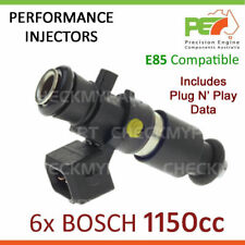 6x New * BOSCH * 1150cc - E85 Injector + Connector Set For Ford XR6 XR8 FPV