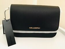 GENUINE KARL LAGERFELD K/SPHYNX SMALL CROSSBODY WOMEN'S HANDBAG - BLACK 204W3006