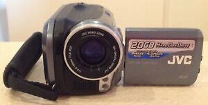 JVC EVERIO GZ-MG20U CAMCORDER VIDEO RECORDER 20GB 25X ZOOM TESTED GRAY SILVER