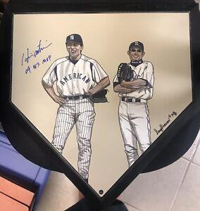 Matsui signed 09 WS MVP w/ Ichiro Hand Painted MLB Home Plate w/ Steiner COA