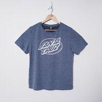 Santa Cruz Boys Size 12 Grey Graphic Print Short Sleeve Cotton T Tee Shirt