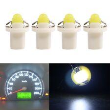 10X White B8.5D T5 COB Car Gauge Cluster Dashboard Indicator Plate ED Light Bulb