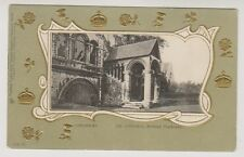 Kent postcard - Canterbury, The Cathedral, Normal Staircase - Embossed