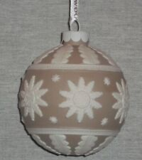 Rare! Discontinued Wedgwood Annual Christmas Tan Ball Ornament 2014 New In Box