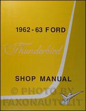 1962 1963 Ford Thunderbird Shop Manual 62 63 T Bird Repair Service Book Tbird