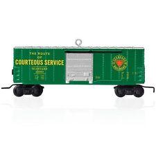 LIONEL Seaboard Box Car 2015 Hallmark ORNAMENT  Seaboard Coast Line  Green Train