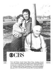 GLENN CLOSE, CHRISTOPHER WALKEN, JACK PALANCE Original TV Photo SARAH, PLAIN AND