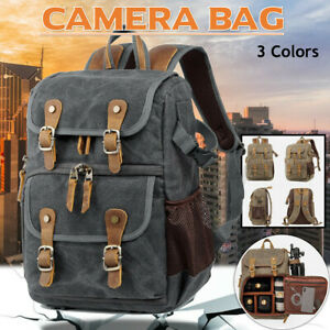29cm Large Waterproof DSLR SLR Canvas Camera Backpack Photo Travel Bag